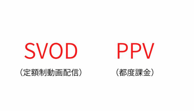 SVODとPPVの画像